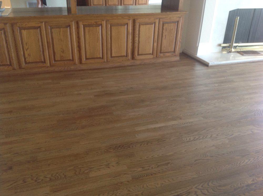 Hardwood floor installation in Orange County
