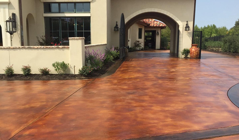 Stained concrete stamped  lake forest laguna hills laguna niguel